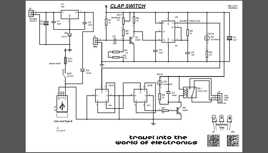 clap switch schematic