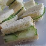 Englische Gurkensandwiches