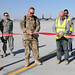 Ribbon cutting on Kandahair Airfield