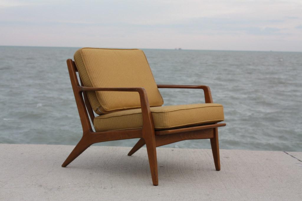 Memorable Danish Mid Century Modern Teak Sculptural Lounge