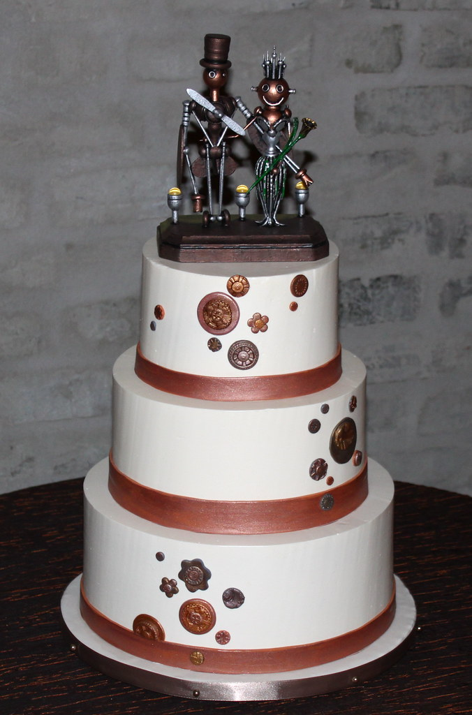 steampunk wedding cakes steampunk wedding cake the amazing robot topper was 20518