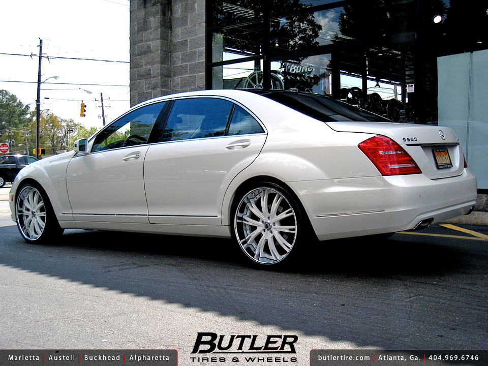 Mercedes s550 with 22in asanti da177 wheels additional for 24 inch mercedes benz rims