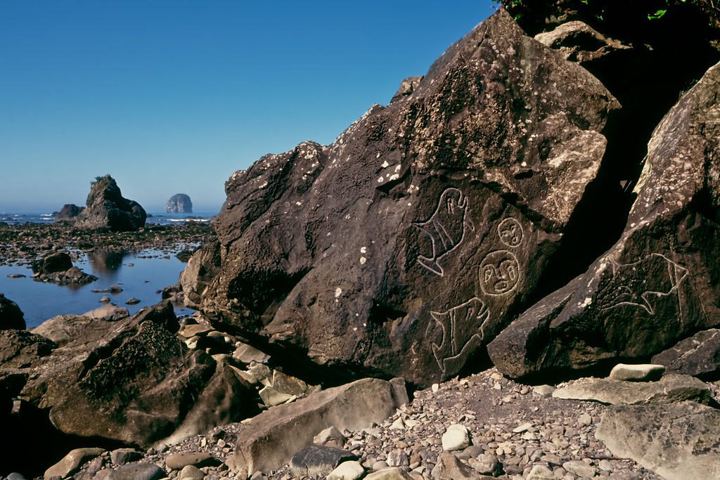 petroglyphs at wedding rocks in olympic national park flickr