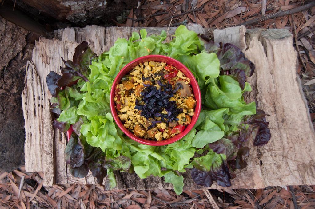 45/366 dinner | scrambled tofu with mixed vegetables (mushro ...