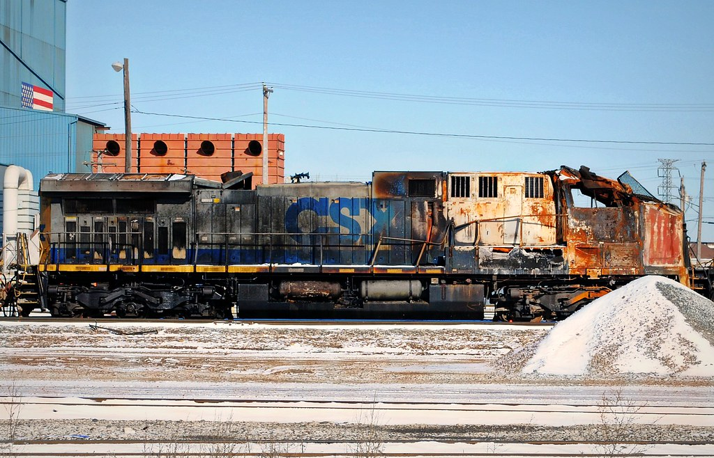Burnt out CSX Train, Riverdale Illinois | Outside of ...