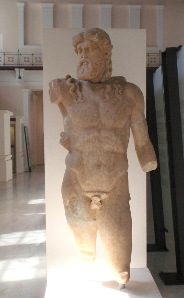 Marble Statue Of Zeus From Olympia The Nymphaeum 2nd C