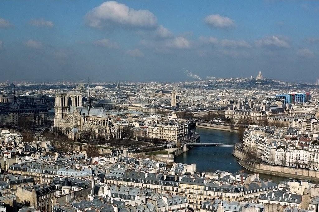 Le Centre Historique De Paris Vu Depuis La Tour De Jussieu
