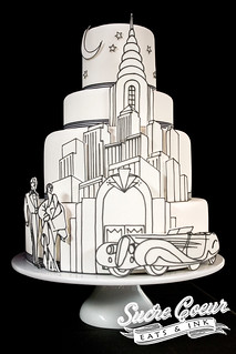 Art Deco Skyline Cake | by Sucre Coeur - Eats & Ink