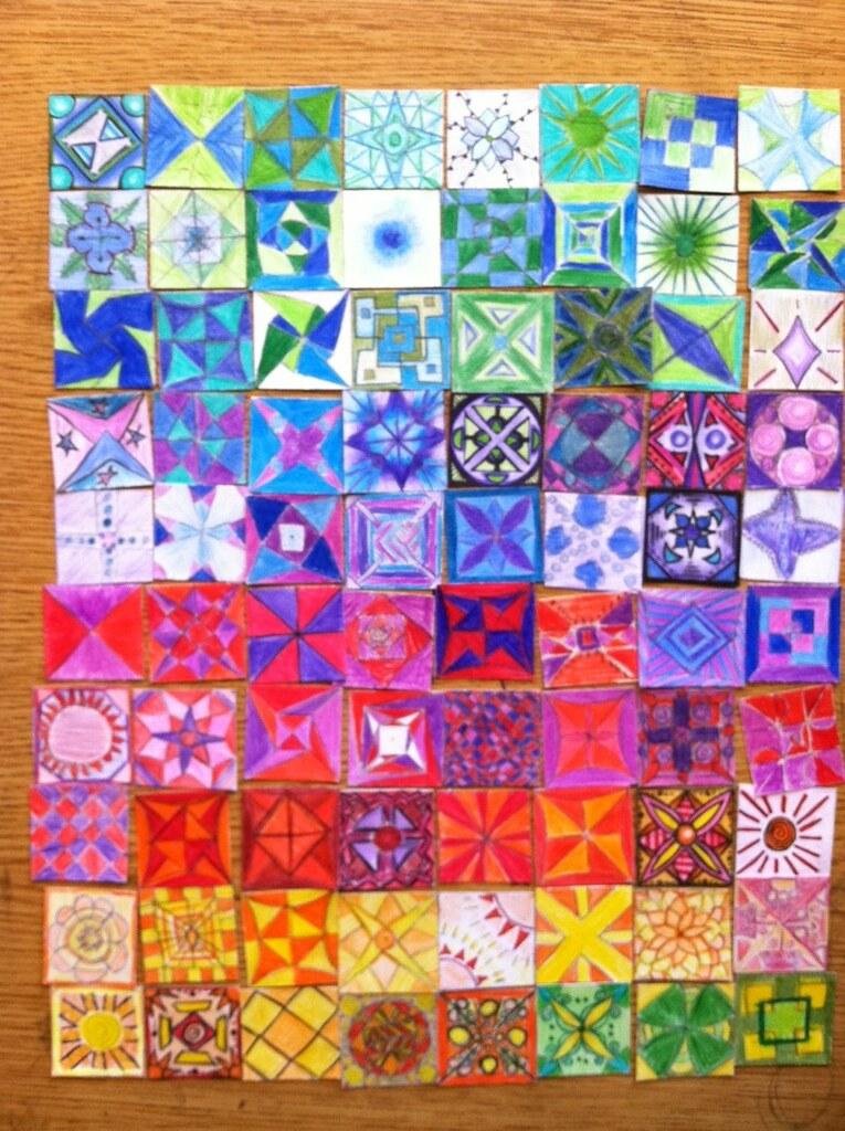New Eyes Paper Quilt Classroom Art Project At Davinci