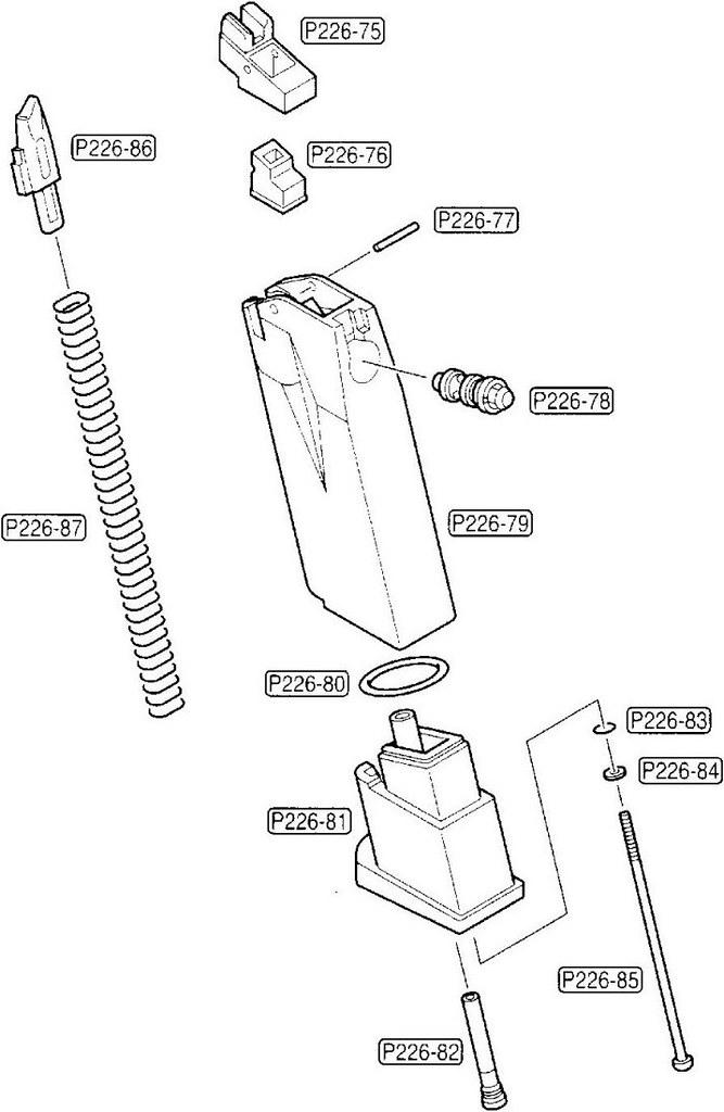 tokyo marui sig sauer p226 parts diagram  magazine