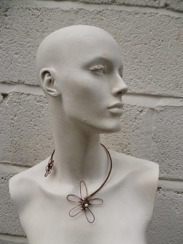 copper flower and pearl torque natalia bianco flickr. Black Bedroom Furniture Sets. Home Design Ideas