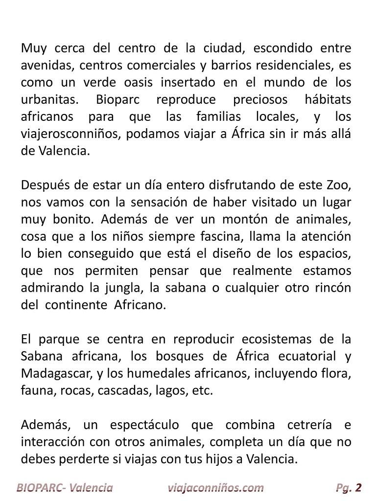Bioparc Valencia.