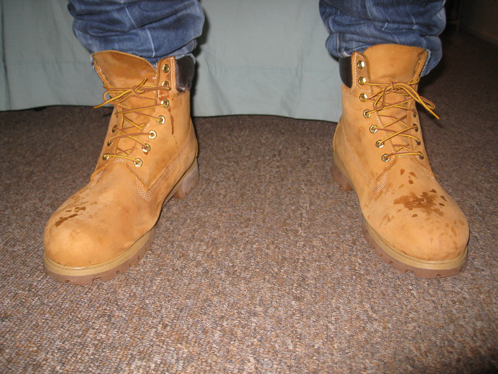 Timbs   My Size 13 timbs after a night out at the bar ... Timberland Pro