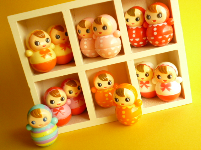 Cute Japanese Toys : Kawaii cute baby miniature roly poly japanese toys collect