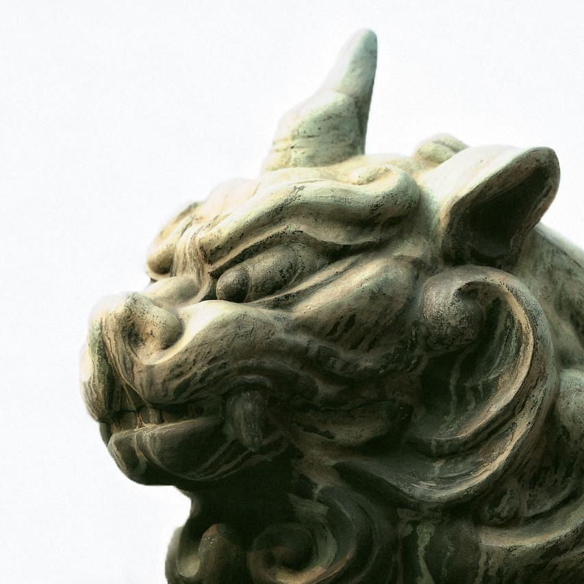 八坂神社の一角獣はマジで恋に落ちるレベルのお顔です。
