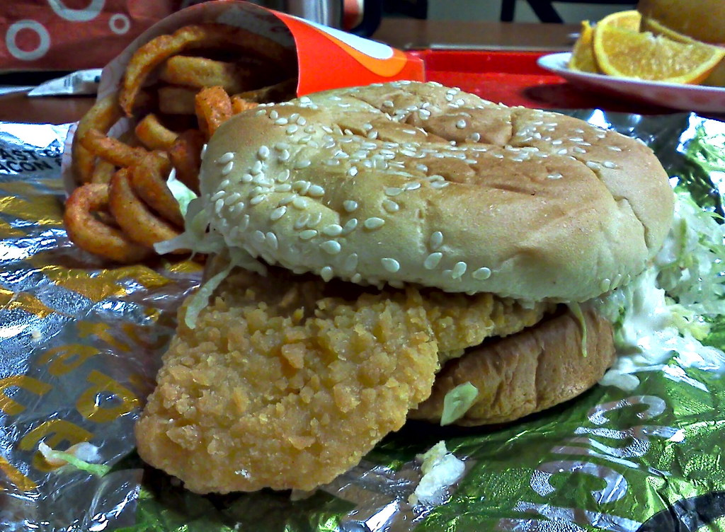 Fish sandwich and curly fries arby 39 s 4000 concord pike n for Arby s fish sandwich
