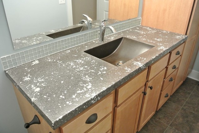 Concrete bath vanity top flickr photo sharing Concrete countertops bathroom vanity