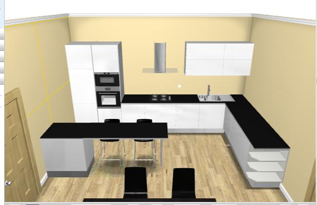 Cucina ikea top nero marta peve flickr for Ikea cucina 3d