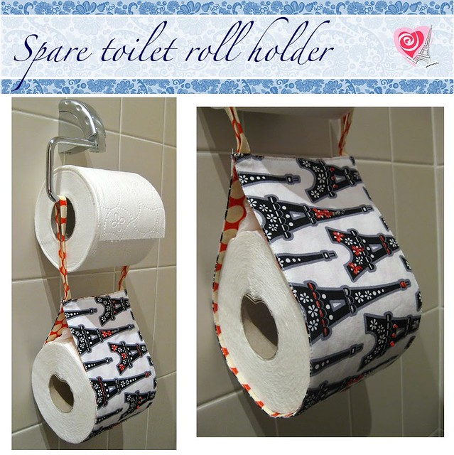 Embroidered Spare Toilet Roll Holder Tutorial Flickr