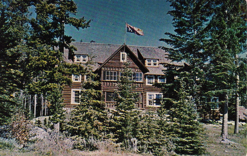 postcard  pennask lake lodge  c 1958