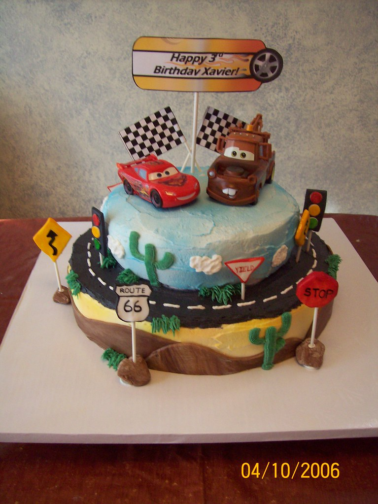 Lightning McQueen and Mater Cars cake McQueen and Mater ar Flickr