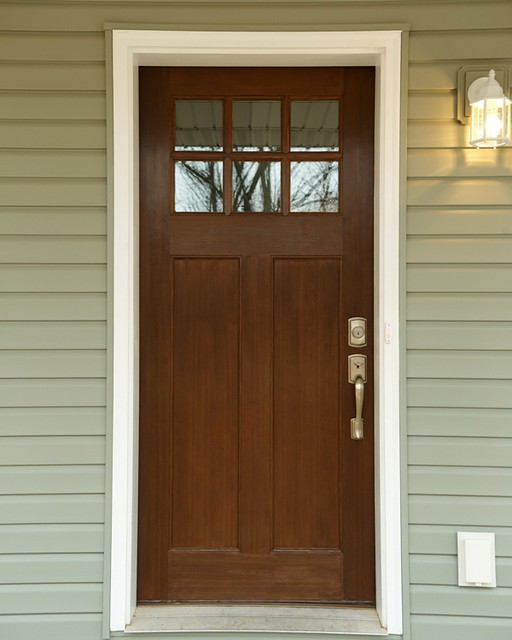 Craftsman style front door flickr photo sharing for Front entry door styles