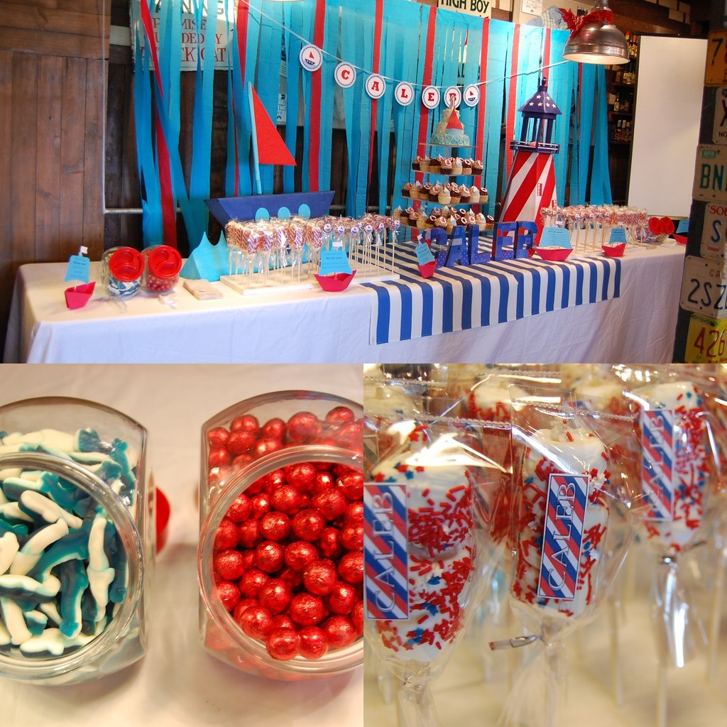 Caleb S Nautical Dessert Table Yumi Castrillo Flickr
