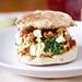 Spinach, Feta and Sundried Tomato Egg Sandwiches