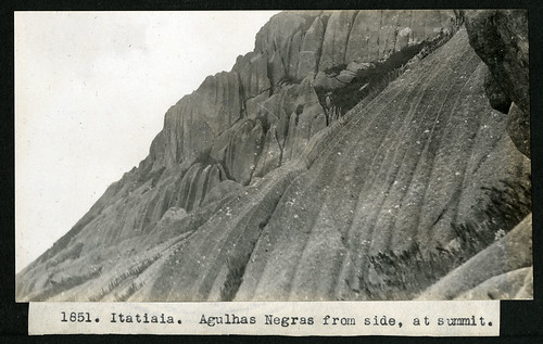 Mary Agnes Chase's Field Work in Brazil, Image No. 1851. Itatiaia.  Agulhas Negras  from side, at summit. | by Smithsonian Institution