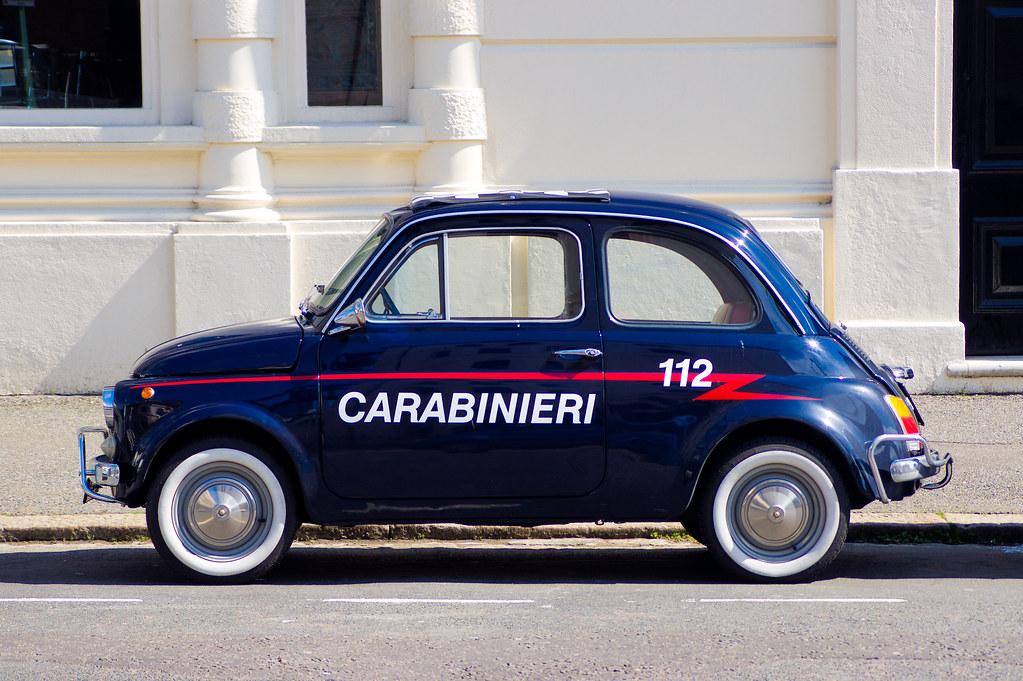 Carabinieri Fiat 500 This Fiat 500 Was Parked Around The