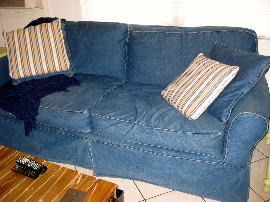 Jean Couch | I Suggested Making A Jean Cover For Our Couch, U2026 | Flickr