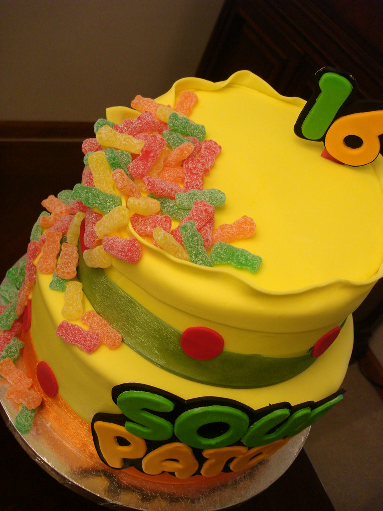 Sour Patch Kids Birthday Cake