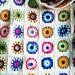 Crochet sunburst afghan