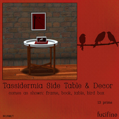 fucifino.tassidermia side table for Flux SL | by TrinityBelle