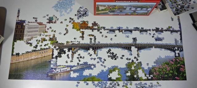 vltava bridges in prague castorland puzzle 4000 pieces flickr photo sharing. Black Bedroom Furniture Sets. Home Design Ideas