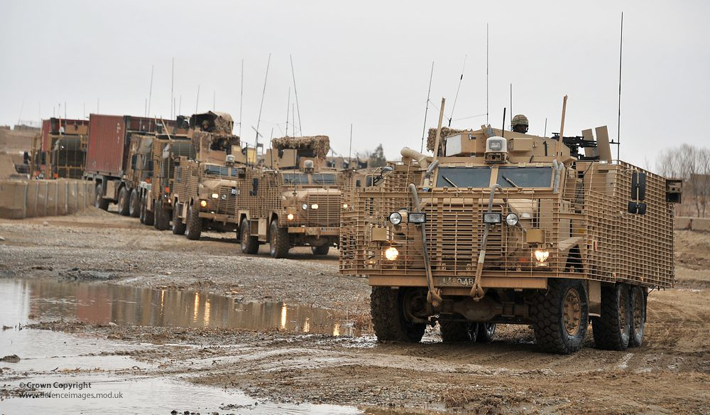Mastiff And Ridgback Heavily Armoured Patrol Vehicles In C
