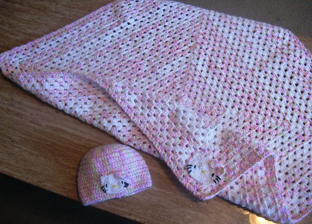Crochet Pattern For Hello Kitty Baby Blanket : photo