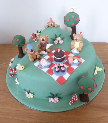 Teddy Bear Birthday Cake Designs