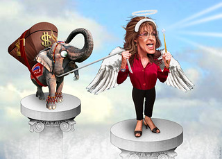 Sarah Palin in the Wings | by DonkeyHotey