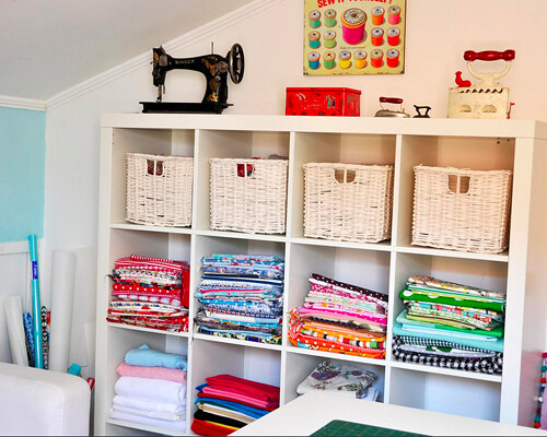 Ikea expedit sewing room storage featured on Small room storage ideas ikea