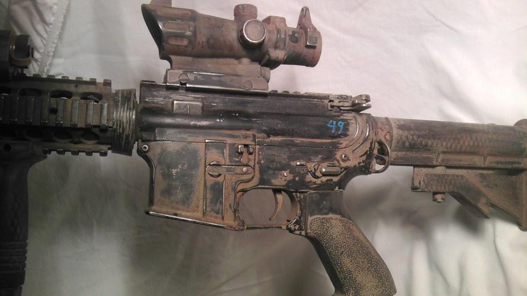 Ca M4 Custom Paint Job Left Body Rangers All The Way