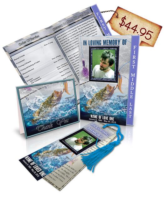 Fishing 01 Regular Funeral Program Templates Package 1 ...