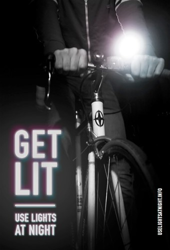 Get Lit: Use lights at night (front side) | by Steven Vance