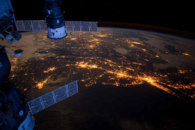 Atlantic Coast at Night (NASA, International Space Station ...