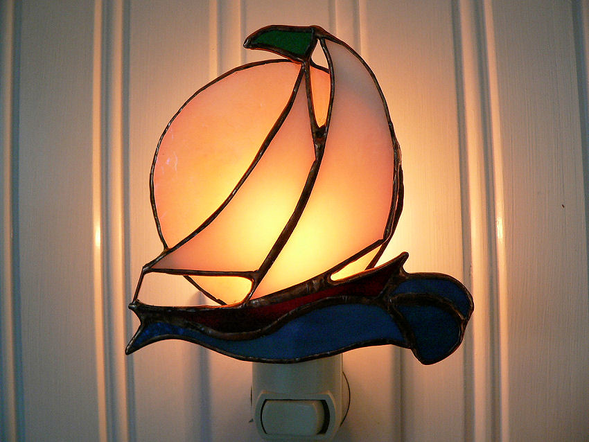 Sailboat Stained Glass Night Light | filigreegarden