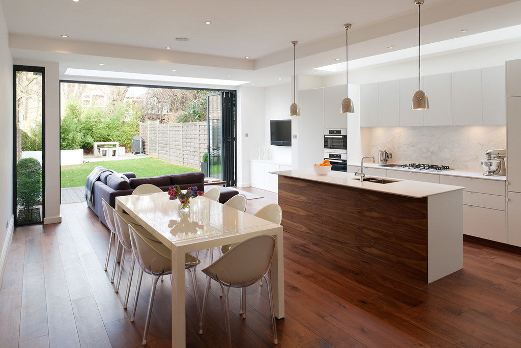 Kitchen dining room granit architects flickr for Idee cucina living
