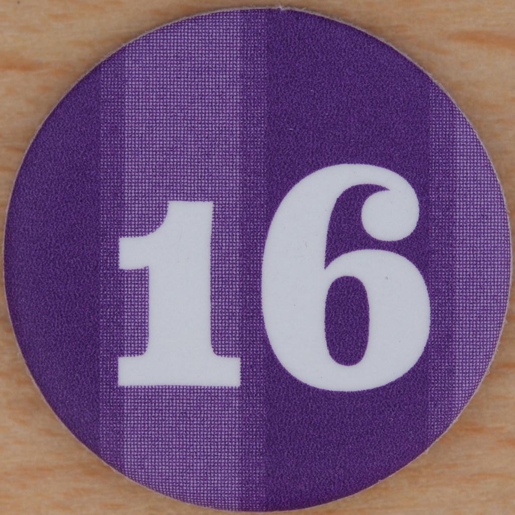 M U0026s Purple Bingo Number 16