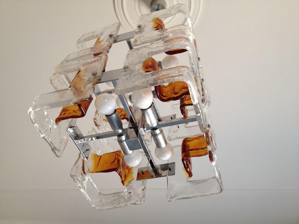 lampadario antico : lampadario in vetro lampadario 8 luci ,antico in vetro bic ...