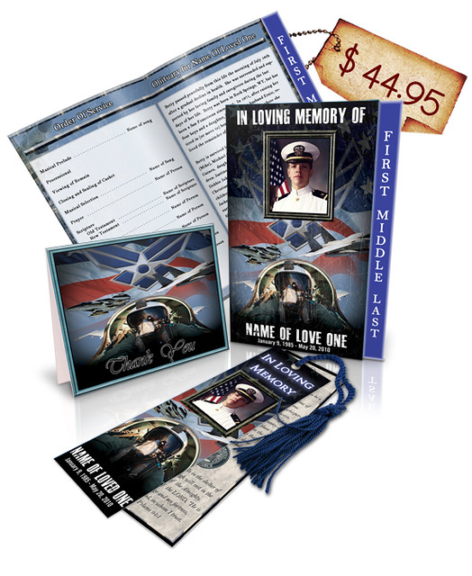 Air Force 01 Regular Funeral Program Templates Package 1 ...