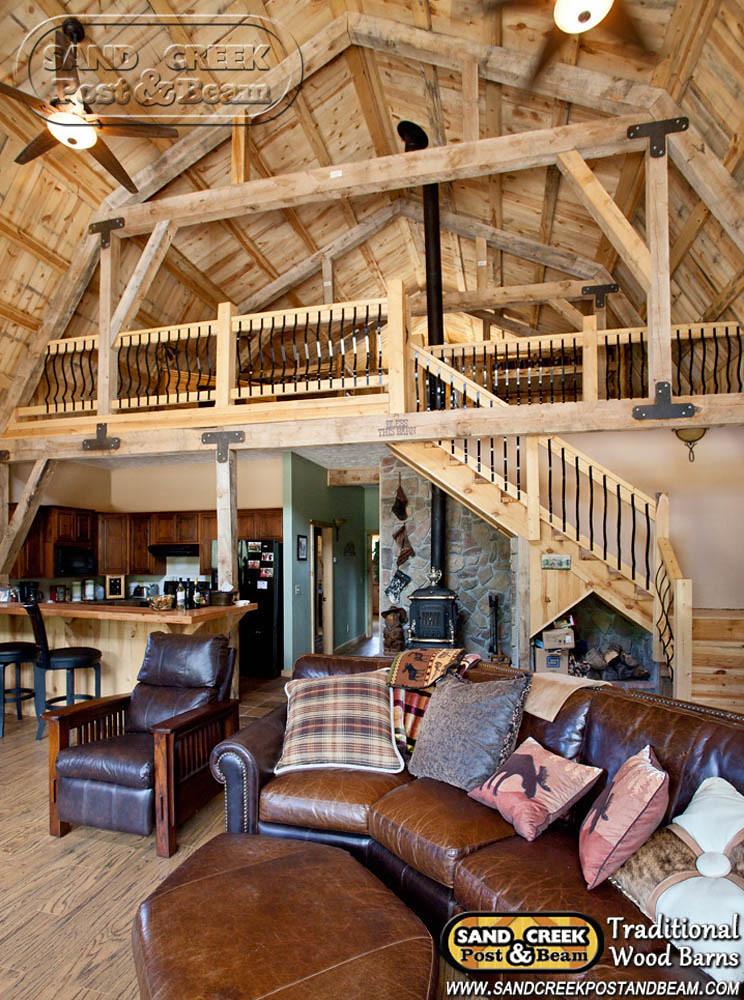 Gambrel Barn Home Sand Creek Post Beam Traditional W